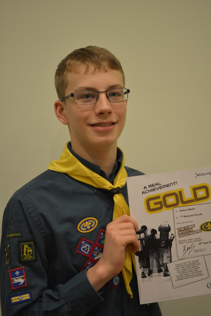 Wargrave Scout Achieves Top Award-Nathan Walsh